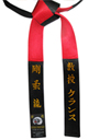 Deluxe Satin Black & Red Panel Belt